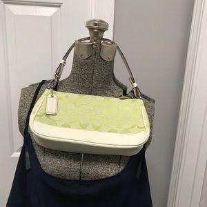 Coach mini purse lime green